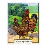 Impresión del pollo del vintage tarjeta postal