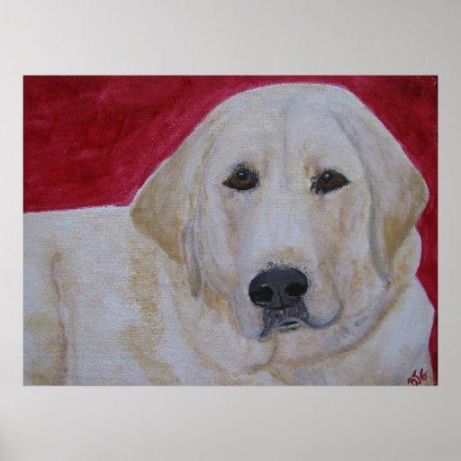 Impresión del poster - arte del perro del labrador