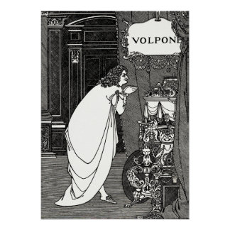 Impresión del poster: Aubrey Beardsley - Volpone Póster