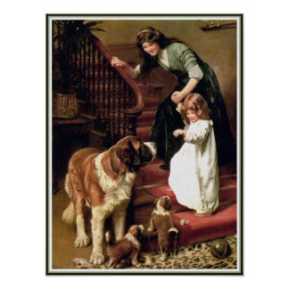 Impresión del poster:  Buenas noches - con St Bern