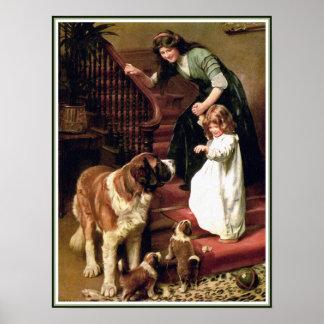 Impresión del poster:  Buenas noches - con St Póster
