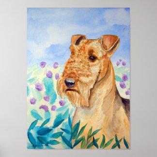 Impresión del poster de Airedale Terrier