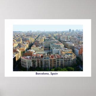 Impresión del poster de Barcelona, España