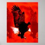 Impresión del poster de Eagle del aterrizaje - pos