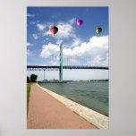 Impresión del poster de embajador Bridge Detroit M