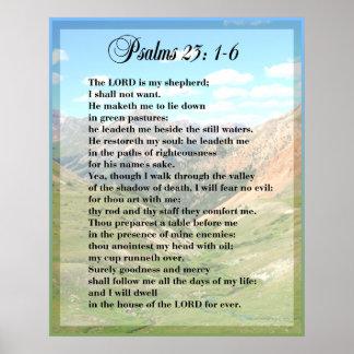 IMPRESIÓN del POSTER de Framable del salmo 23