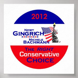 Impresión del POSTER de Gingrich Bachmann
