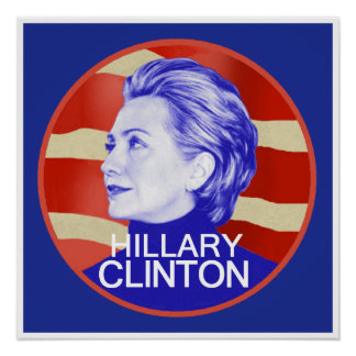 Impresión del POSTER de Hillary Clinton