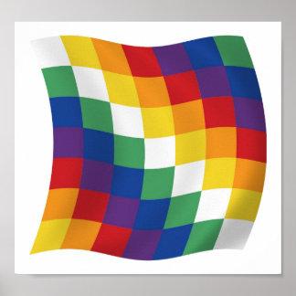 Impresión del poster de la bandera de Aymara