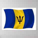 Impresión del poster de la bandera de Barbados