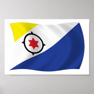 Impresión del poster de la bandera de Bonaire