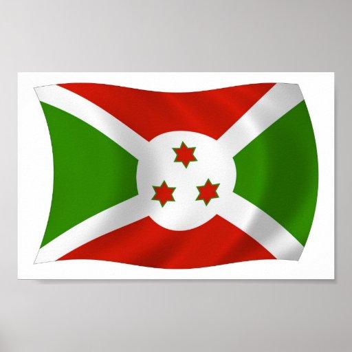 Impresión del poster de la bandera de Burundi