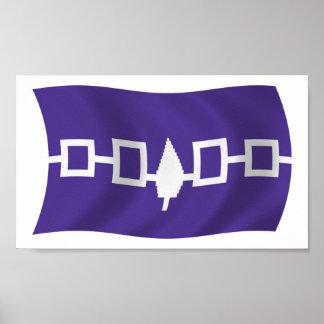 Impresión del poster de la bandera de Confederacy