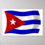 Impresión del poster de la bandera de Cuba