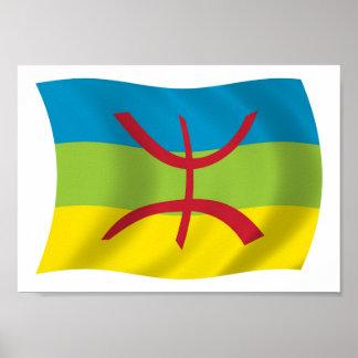 Impresión del poster de la bandera de la gente del
