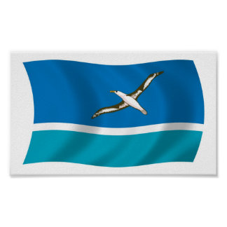 Impresión del poster de la bandera de la isla inte