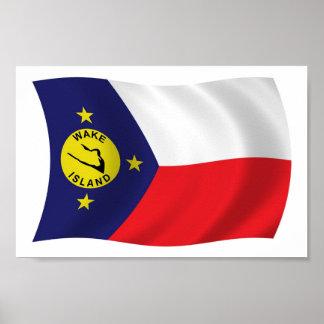 Impresión del poster de la bandera de la isla Wake