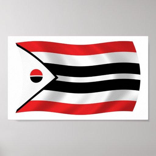 Impresión del poster de la bandera de la tribu del
