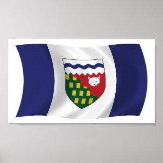 Impresión del poster de la bandera de los territor