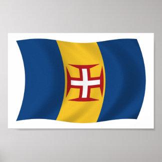 Impresión del poster de la bandera de Madeira