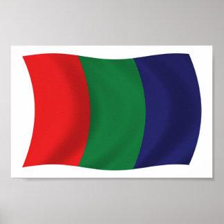 Impresión del poster de la bandera de Marte