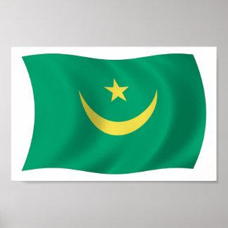 Impresión del poster de la bandera de Mauritania