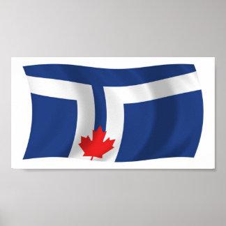 Impresión del poster de la bandera de Toronto