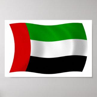 Impresión del poster de la bandera de United Arab