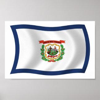 Impresión del poster de la bandera de Virginia Occ