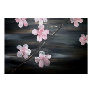 Impresión del poster de la bella arte de la flor d