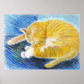 Impresión del poster de la bella arte de la siesta