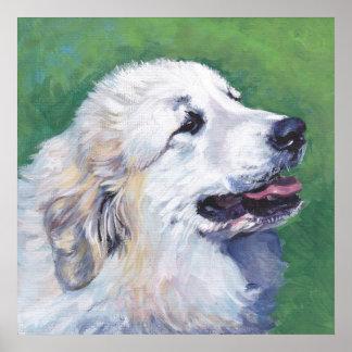 Impresión del poster de la bella arte del perro de