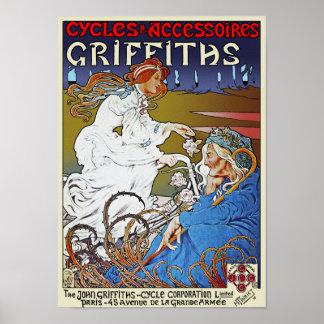 Impresión del poster de la bicicleta: Ciclos de Gr