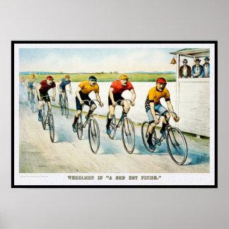 Impresión del poster de la bicicleta del vintage