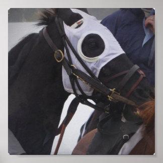 Impresión del poster de la carrera de caballos