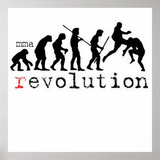 impresión del poster de la carta de la evolución