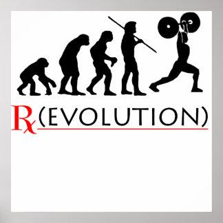 Impresión del poster de la carta de la evolución d