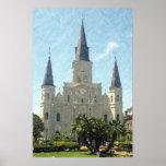 Impresión del poster de la catedral de New Orleans
