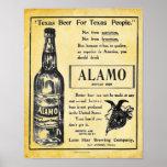 Impresión del poster de la cerveza de Álamo del