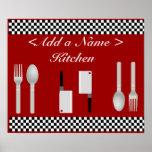 Impresión del poster de la cocina del tablero de d