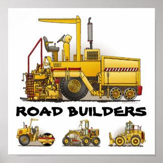Impresión del poster de la construcción de los