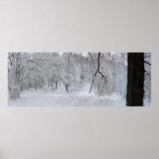 Impresión del poster de la escena de la nieve del