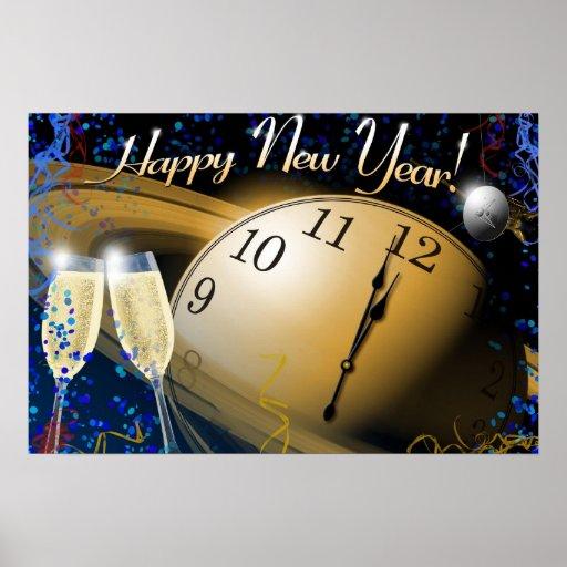 Impresión del poster de la Feliz Año Nuevo