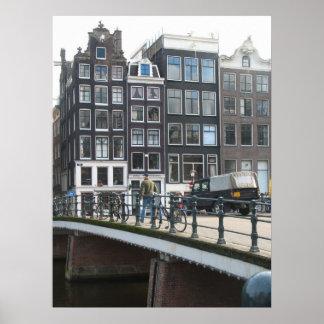Impresión del poster de la foto de las casas del c