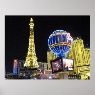 Impresión del poster de la foto de París Las Vegas