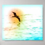 Impresión del poster de la gaviota de la primavera
