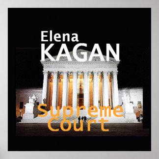 Impresión del POSTER de la justicia de Elena Kagan