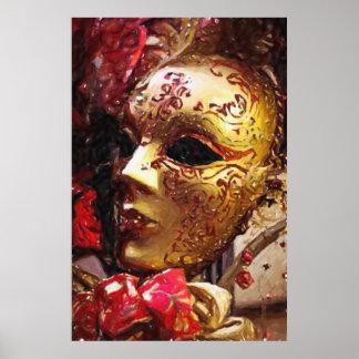 Impresión del poster de la máscara del carnaval de