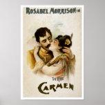 Impresión del poster de la ópera de Carmen del vin