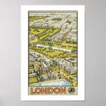 Impresión del poster de la opinión de Londres Aria